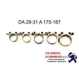 Fascette stringitubo pesanti, serraggio a vite, da 29-31 mm a 175-187 mm