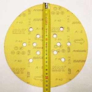 Disco abrasivo forato, velcro tipo A per levigatrice a giraffa P40-P225 Ø225mm - retro