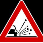 Materiale instabile strada