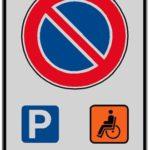 Divieto di sosta parcheggio disabili