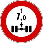 Transito vietato a massa per asse superiore xx ton