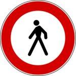 Transito pedonale vietato