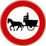 Transito trazione animale vietato