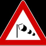Forte vento laterale