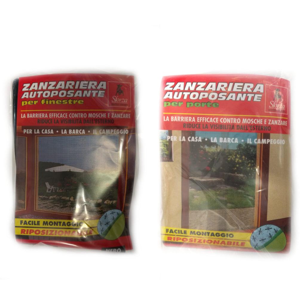 Zanzariera autoposante per porte e finestre