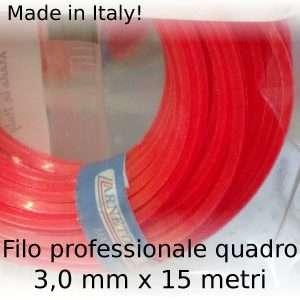 Filo decespugliatore professionale Maxi-Line quadro 3 mm x 15 m