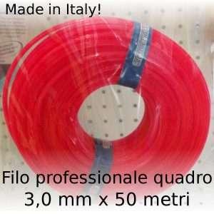 Filo decespugliatore professionale Maxi-Line quadro 3 mm x 50 m