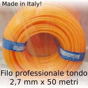 Filo decespugliatore professionale Maxi-Line tondo 2,7 mm x 50 m
