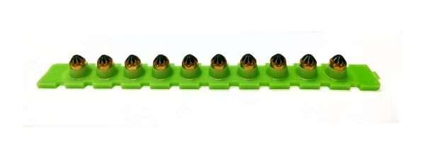 Propulsori a salve per sparachiodi verde CAL 6,8x11 100 cartucce
